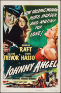 """Movie Posters:Crime, Johnny Angel (RKO, 1945). One Sheet (27"""" X 41"""") & Lobby Card(11"""" X 14""""). Crime.. ... (Total: 2 Items)"""
