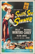"Movie Posters:Adventure, South Sea Sinner (Universal International, 1949). One Sheet (27"" X41"") & Title Lobby Card (11"" X 14""). Adventure.. ... (Total: 2Items)"