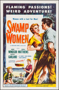 "Movie Posters:Bad Girl, Swamp Women (Woolner Brothers, 1956). One Sheet (27"" X 41""). BadGirl.. ..."