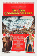 "Movie Posters:Drama, The Ten Commandments (Paramount, 1956). One Sheet (27"" X 41"") StyleA. Drama.. ..."