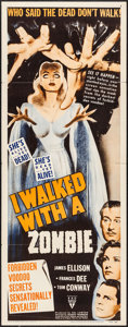 """Movie Posters:Horror, I Walked with a Zombie (RKO, R-1952). Insert (14"""" X 36""""). Horror.. ..."""