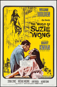 """The World of Suzie Wong (Paramount, R-1965). One Sheet (27"""" X 41""""), Lobby Card Set of 8 (11"""" X 14"""")..."""