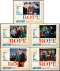 "Movie Posters:Hitchcock, Rope (Warner Brothers, 1948). Title Lobby Card & Lobby Cards(4) (11"" X 14"").. ... (Total: 5 Items)"