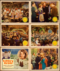 """The Lottery Bride (United Artists, 1930). Title Lobby Card & Lobby Cards (5) (11"""" X 14""""). ... (Total: 6 It..."""