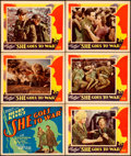 """Movie Posters:Drama, She Goes to War (United Artists, 1929). Title Lobby Card &Lobby Cards (5) (11"""" X 14"""").. ... (Total: 6 Items)"""