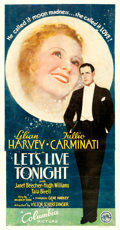 "Movie Posters:Comedy, Let's Live Tonight (Columbia, 1935). Three Sheet (41.75"" X 80""). Comedy...."