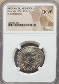 Ancients:Roman Provincial , Ancients: PHOENICIA. Ake-Ptolemais. Caracalla (AD 198-217). BItetradrachm. NGC Choice VF....