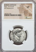 Ancients:Roman Provincial , Ancients: SYRIA. Antioch. Nero (AD 54-68). AR tetradrachm. NGCVF....