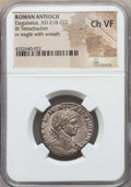Ancients:Roman Provincial , Ancients: SYRIA. Antioch. Elagabalus (AD 218-222). BI tetradrachm.NGC Choice VF....