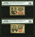 Fractional Currency:Fifth Issue, Fr. 1309 25¢ Fifth Issue PMG About Uncirculated 50.. Fr. 1265 10¢Fifth Issue PMG About Uncirculated 50.. ... (Total: 2 notes)