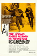 """Movie Posters:Western, Butch Cassidy and the Sundance Kid (20th Century Fox, 1969). Flat Folded One Sheet (27"""" X 41"""") Style B.. ..."""