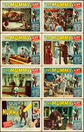 "Movie Posters:Horror, The Mummy (Universal International, 1959). Lobby Card Set of 8 (11""X 14"").. ... (Total: 8 Items)"