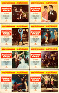"""Movie Posters:Romance, Funny Face (Paramount, 1957). Lobby Card Set of 8 (11"""" X 14"""").. ... (Total: 8 Items)"""