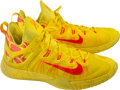 Basketball Collectibles:Others, 2015 James Harden Game Worn Houston Rockets Sneakers....