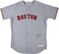 Baseball Collectibles:Uniforms, 2007 Mike Lowell Game Issued Boston Red Sox Jersey with MLB Hologram. ...