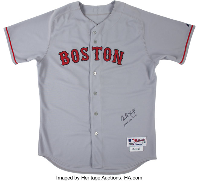 2007 Mike Lowell Game Issued Boston Red Sox Jersey with  aac81fd9852