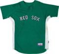 Baseball Collectibles:Uniforms, 2008 Kevin Youkilis Game Worn Boston Red Sox Jersey - Celtics Tribute Game. ...