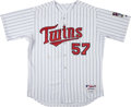 Baseball Collectibles:Uniforms, 2007 Johan Santana Game Issued Minnesota Twins Jersey. ...