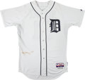 Baseball Collectibles:Uniforms, 2014 Omar Vizquel Game Worn Detroit Tigers Coach's Jersey with MLB Hologram. ...