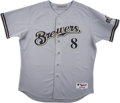 Baseball Collectibles:Uniforms, 2006 Nelson Cruz Game Issued & Signed Milwaukee Brewers Jersey. ...