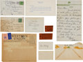 Baseball Collectibles:Others, 1934 Claire Ruth Handwritten Letter & Telegram....