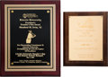 Baseball Collectibles:Others, 2003-12 Monte Irvin Presentation Plaques from The Monte IrvinCollection. ...