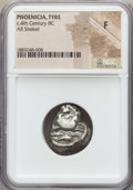 Ancients:Greek, Ancients: PHOENICIA. Tyre. Ca. 393-389 BC. AR shekel. NGC Fine....