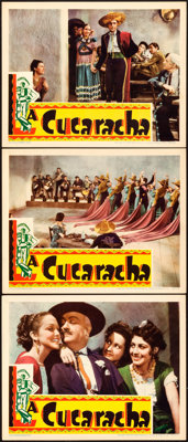 "La Cucaracha (RKO, 1934). Lobby Cards (3) (11"" X 14""). ... (Total: 3 Items)"