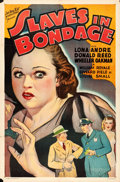 "Movie Posters:Crime, Slaves in Bondage (Roadshow Attractions, 1937). One Sheet (27"" X41"").. ..."
