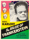 "Movie Posters:Horror, The Bride of Frankenstein (Realart, R-1953). Silk Screen Poster(30"" X 40""). Horror.. ..."
