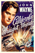 "Movie Posters:Action, California Straight Ahead (Universal, 1937). One Sheet (27"" X41"").. ..."