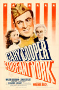 "Movie Posters:War, Sergeant York (Warner Brothers, 1941). One Sheet (27"" X 41"").. ..."