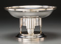 Silver Holloware, Continental, An Art Deco Silver-Plated Tazza Centerpiece, first half 20thcentury. 5-3/8 inches high x 9-1/4 inches diameter (13.7 x 23.5...