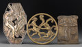 Decorative Arts, Continental, Three Continental Bronze, Bronzed Metal, and Silver-Plated Plaqueswith Classical Motifs, 20th century. 11-1/4 inches high (...