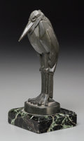 Decorative Arts, Continental, An Art Deco Bronzed Spelter Stork Figure, after Charles Artus, 20thcentury. Marks: ARTUS. 7-1/8 inches high (18.1 cm) (...