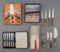 Decorative Arts, Continental, Forty Assorted Pieces of Flatware, 20th century. Marks: (variousmarks). 11 inches long (27.9 cm) (longest). ... (Total: 6 Items)