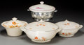 Ceramics & Porcelain, Continental:Modern  (1900 1949)  , Four Art Deco Ceramic Tureens, circa 1940. Marks: (various marks). 12-5/8 inches wide (32.1 cm) (largest). ... (Total: 4 Items)