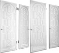 Other, Four Art Deco Mirrored Doors with Stenciled Stag Motif, 20thcentury. 79-7/8 x 23-3/4 x 2 inches (202.8 x 60.3 x 5.1 cm) (ea...(Total: 4 Items)