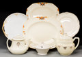 Ceramics & Porcelain, British:Modern  (1900 1949)  , A Group of Assorted Ceramic Table Items, 20th century. Marks:(various marks). 14-1/4 inches wide (36.2 cm) (platter). ...(Total: 7 Items)