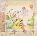 Music Memorabilia:Autographs and Signed Items, Elton John Signed Goodbye Yellow Brick Road Album (1973)....