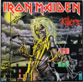 Music Memorabilia:Autographs and Signed Items, Iron Maiden Signed Killers LP Cover with Backstage Pass(EMI, 1981)....
