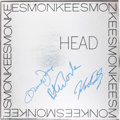 Music Memorabilia:Autographs and Signed Items, The Monkees Signed Head LP (RCA, 1968)....