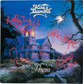 """Music Memorabilia:Autographs and Signed Items, King Diamond Signed """"Them"""" LP with Concert Ticket and Pass(Roadracer RR 9550, 1988). ..."""