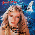 Music Memorabilia:Autographs and Signed Items, Great White Signed Once Bitten Promo LP (Capitol ST-12565,1987)....