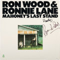 Music Memorabilia:Autographs and Signed Items, Ron Wood and Ronnie Lane Signed Mahoney's Last Stand Album(1976)....