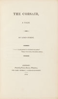 Books:Literature Pre-1900, Lord Byron. The Corsair. London: 1814. First edition, secondissue.. ...