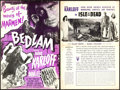 "Movie Posters:Horror, Bedlam & Other Lot (RKO, 1946). Uncut Pressbooks (2) (12 Pages& 8 Pages, 12"" X 18"").. ... (Total: 2 Items)"