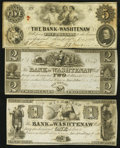 Obsoletes By State:Michigan, Ann Arbor, MI- Bank of Washtenaw $1; $2; $5 1835-54. ... (Total: 3 notes)