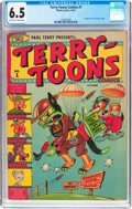 Golden Age (1938-1955):Funny Animal, Terry-Toons Comics #1 (Timely, 1942) CGC FN+ 6.5 Light tan to creampages....