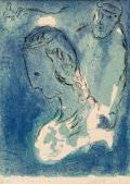 Prints:European Modern, Marc Chagall (1887-1985). Abraham and Sarah, from TheBible, 1956. Lithograph in colors on Arches paper. 14-3/4 x10...
